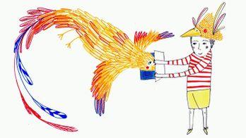 En sortant de l'école : Page d'écriture