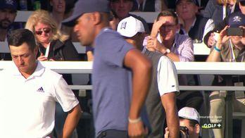 Le coup du jour pour Tiger Woods sur le 11 de Torrey Pines Sud