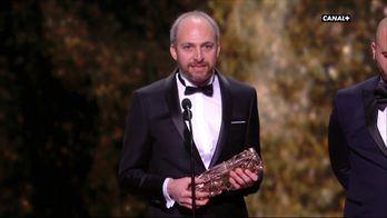 Yorgos Lamprinos reçoit le César du Meilleur Montage pour Les Frères Sisters - César 2019