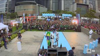 Eprix de Hong Kong - Les célébrations du Podium