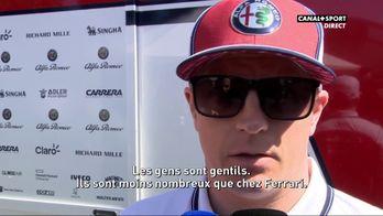 Kimi Räikkönen parle de sa nouvelle écurie Alfa Romeo