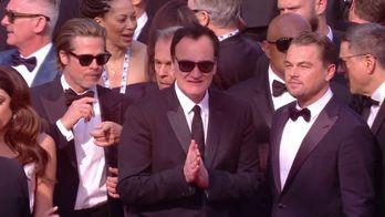 L'arrivée de Quentin Tarantino, Leonardo DiCaprio et Brad Pitt sur le tapis rouge - Cannes 2019