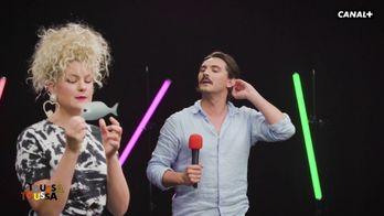Duel de KaraoPASoké entre la chanteuse Corine et Tony dans Toussa Toussa
