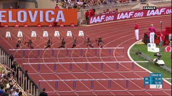 La course du 100M haies Femmes