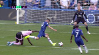 Ouverture du score de Mount face à Leicester