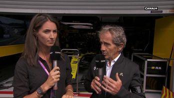 Alain Prost dans l'émotion