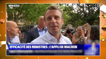 Emmanuel Macron met en place une application pour surveiller le travail de ses ministres