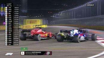Contact entre Vettel et Gasly