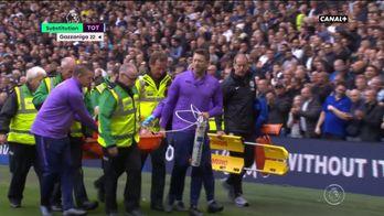 La terrible blessure d'Hugo Lloris contre Brighton