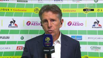 Claude Puel satisfait de ses joueurs après le derby