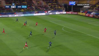 Le but d'Houssem Aouar avec les Bleuets contre l'Azerbaïdjan