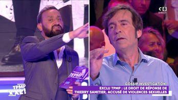 Cyril Hanouna réprimande Thierry Samitier après des propos sévères sur Franck Leboeuf
