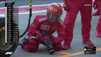 L'arrêt au stand de Vettel