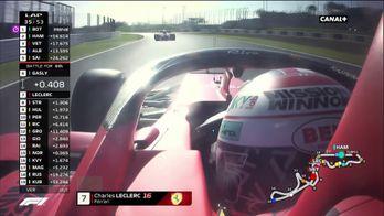 Le dépassement de Leclerc sur Gasly