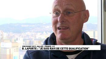 """B. Laporte : """"Je suis ravi de cette qualification"""""""