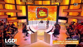 Le juste Baba : Laurent Baffie fait gagner une vitrine de cadeaux à une personne du public