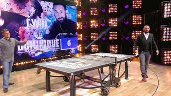 Les coulisses des matchs de mini ping pong de Cyril contre Dominique