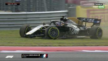 Le gros crash de Romain Grosjean pendant les EL2