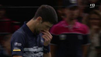 Le superbe coup droit court croisé de Djokovic !