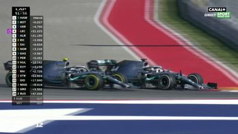 La bagarre entre les Mercedes