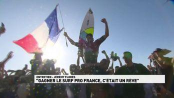 """Jeremy Flores : """"Gagner le Surf Pro France, c'était un rêve"""""""