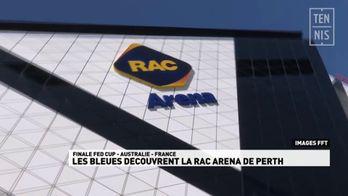 Les Bleues découvrent la RAC Arena de Perth