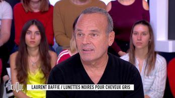 Laurent Baffie : Lunettes noires pour cheveux gris