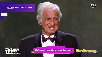 Jean-Paul Belmondo reçoit la légion d'honneur par Emmanuel Macron
