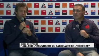 "F.Galthié : ""Construire un cadre avec de l'exigence"""