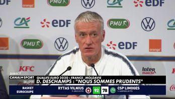 """Didier Deschamps : """"Nous sommes prudents"""""""