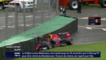 Albon vainqueur de la première séance au Brésil sous une pluie battante