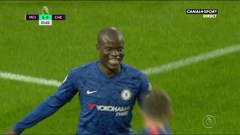 L'ouverture du score de N'Golo Kanté contre Manchester City