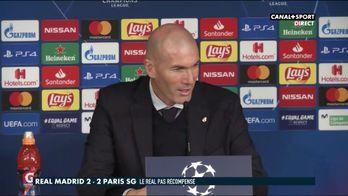Zinédine Zidane se confie après Real / PSG