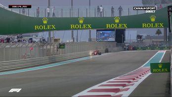 Leclerc tape le rail en FP2