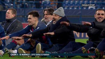 Images de joies des Caennais après la victoire contre Nancy