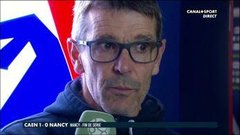 La réaction de Jean-Louis Garcia après la défaite de Nancy à Caen
