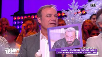 """Fabien Lecoeuvre choisit entre Cyril Hanouna et Patrick Sébastien dans """"Lequel des deux ?"""""""