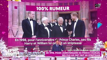 En 1998, pour l'anniversaire du Prince Charles, ses fils lui ont fait un striptease !