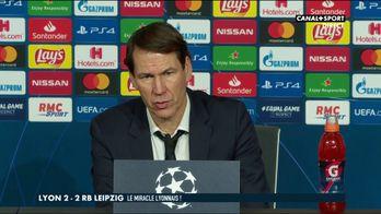 La réaction de Rudi Garcia après Lyon / Leipzig