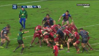 L'essai en force de Biarritz contre Grenoble