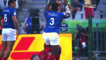 Les meilleurs moments de la rencontre entre les Bleus du 7 et l'Espagne au Cape Town Sevens