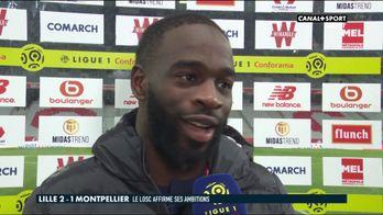 La réaction de Jonathan Ikoné après Lille / Montpellier