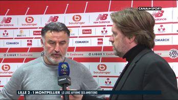 La réaction de Christophe Galtier après Lille / Montpellier