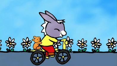Trotro fait du vélo