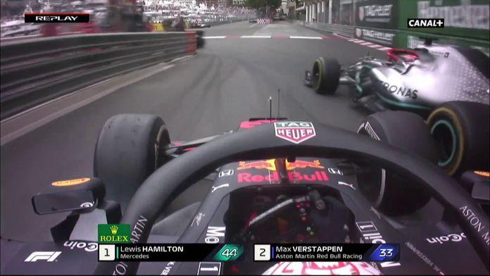 Gros contact Hamilton Verstappen