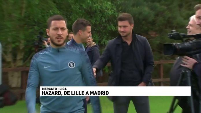 Hazard de Lille à Madrid