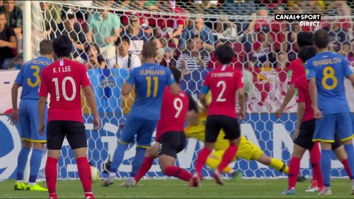 L'Ukraine revient au score peu avant la mi-temps