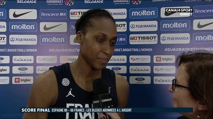 La réaction de Sandrine Gruda après la finale