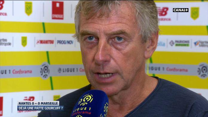 La réaction de Christian Gourcuff après Nantes/Marseille