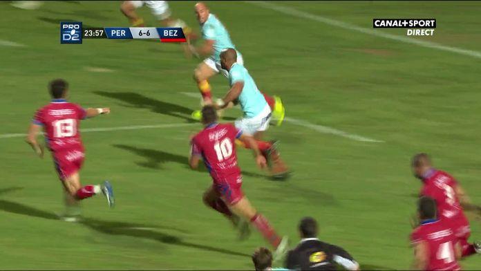 L'essai de 90m conclut Shahn Eru face à Béziers